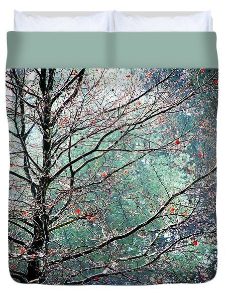 The Aura Of Trees Duvet Cover by Angela Davies