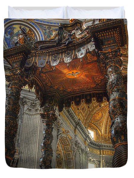 The Baldaccino Of Bernini Duvet Cover