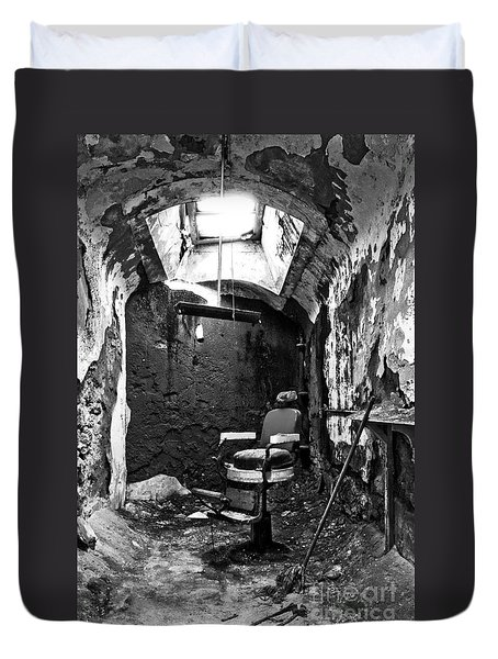 The Barber Chair - Bw Duvet Cover by Paul W Faust -  Impressions of Light