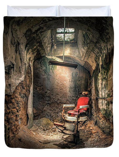 The Barber's Chair -the Demon Barber Duvet Cover by Gary Heller