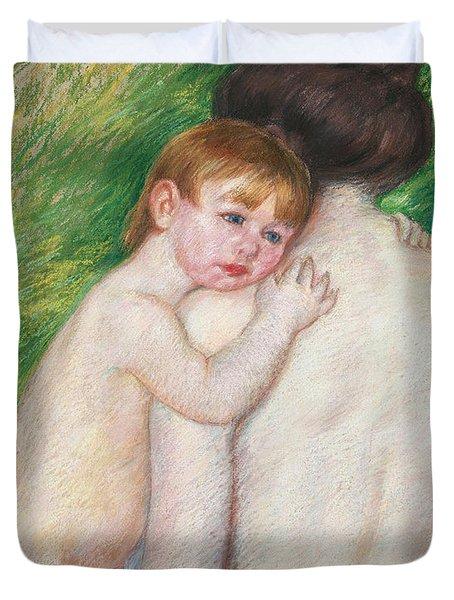 The Bare Back Duvet Cover by Mary Cassatt Stevenson