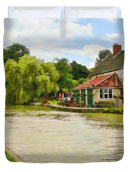 The Barge Inn Seend Duvet Cover