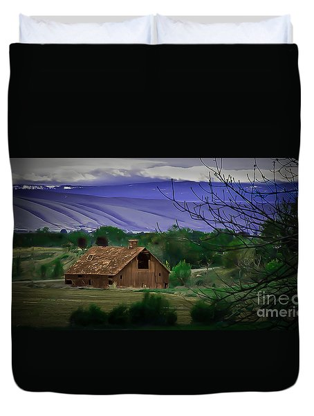 The Barn Duvet Cover by Robert Bales