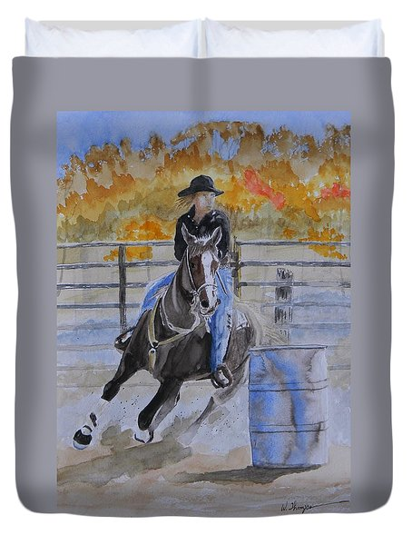 The Barrel Race Duvet Cover