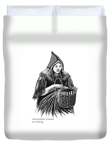 The Basket Maker Duvet Cover