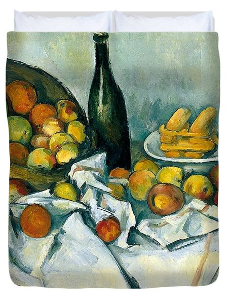 The Basket Of Apples Duvet Cover