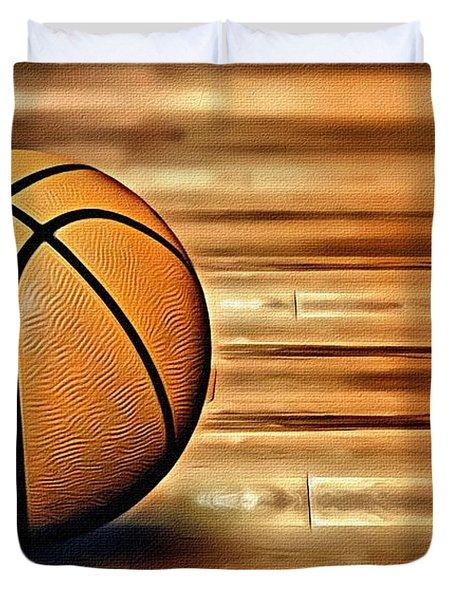 The Basketball Duvet Cover by Florian Rodarte