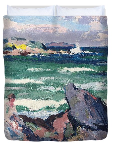 The Bather Duvet Cover by Francis Campbell Boileau Cadell