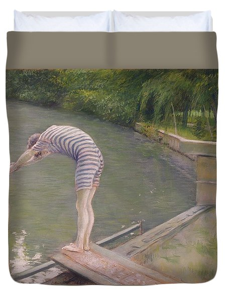 The Bather Or The Diver Duvet Cover