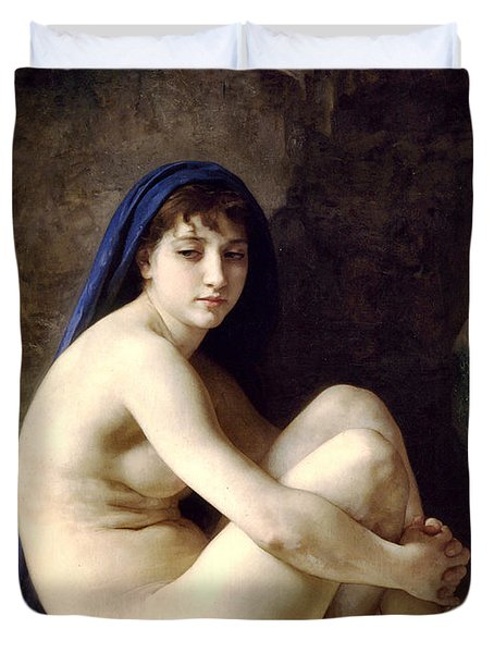 The Bather Duvet Cover by William Bouguereau