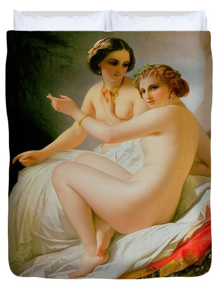 The Bathers Duvet Cover by Louis Hersent