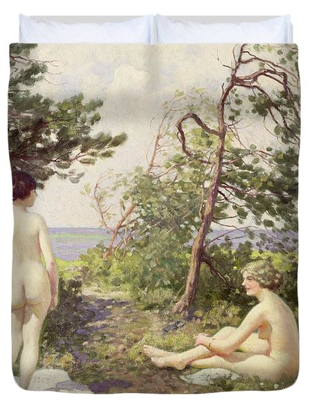 The Bathers Duvet Cover by Paul Fischer