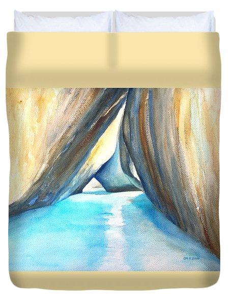 The Baths Azul Duvet Cover by Carlin Blahnik