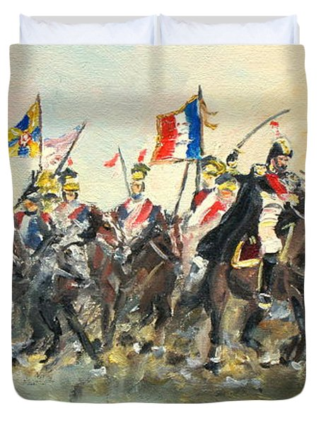 The Battle Of Austerlitz Duvet Cover