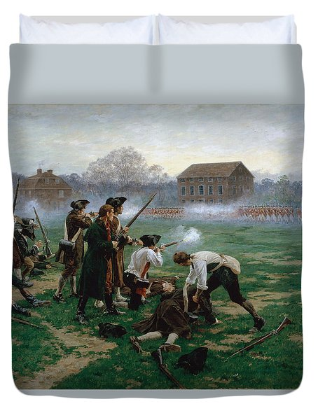 The Battle Of Lexington, 19th April 1775 Duvet Cover