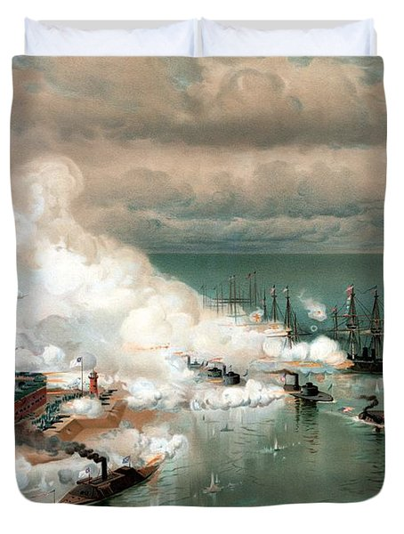 The Battle Of Mobile Bay Duvet Cover by War Is Hell Store