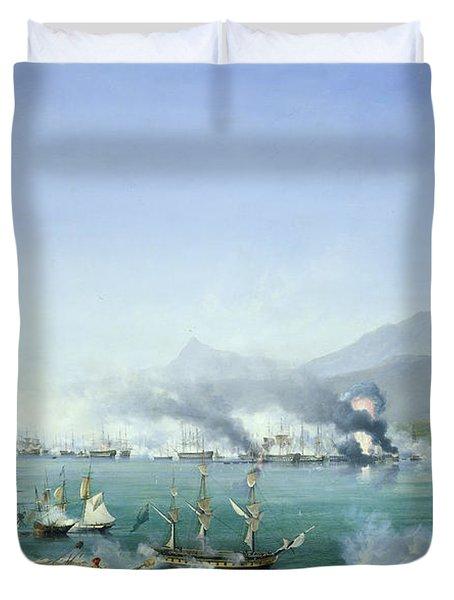 The Battle Of Navarino Duvet Cover