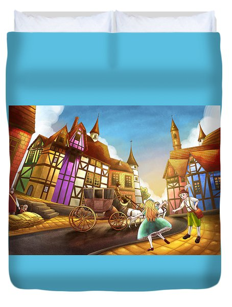 The Bavarian Village Duvet Cover