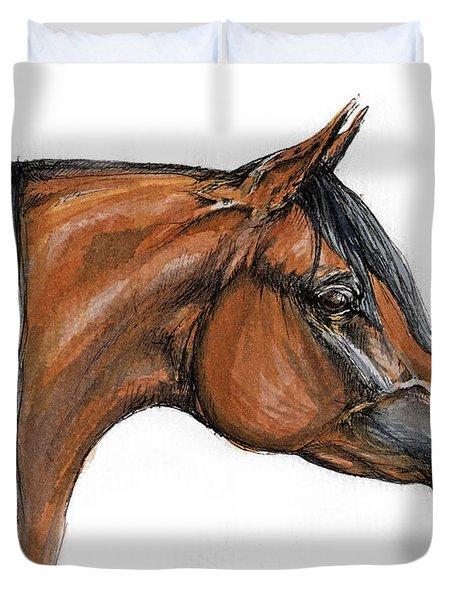 The Bay Arabian Horse 18 Duvet Cover by Angel  Tarantella