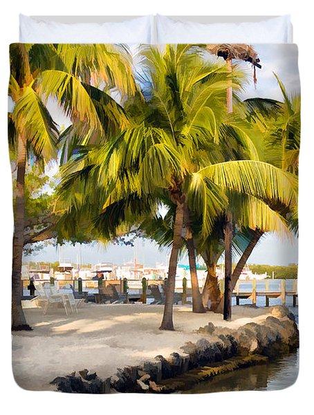 The Beach At Coconut Palm Inn Duvet Cover