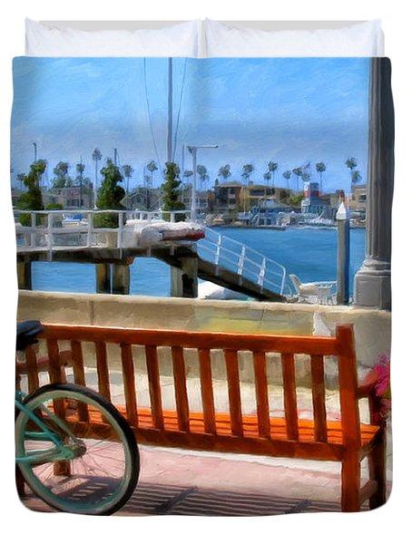 The Beach Cruiser Duvet Cover