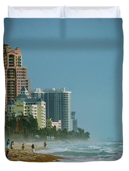 The Beach Near Fort Lauderdale Duvet Cover