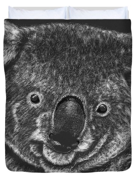 The Bear From Down Under Duvet Cover