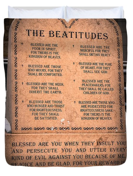 The Beatitudes Duvet Cover