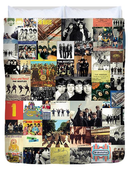 The Beatles Collage Duvet Cover