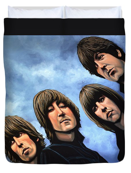 The Beatles Rubber Soul Duvet Cover by Paul Meijering