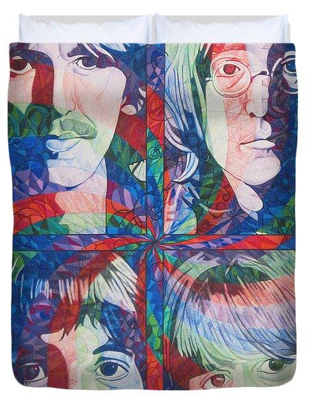 The Beatles Squared Duvet Cover by Joshua Morton