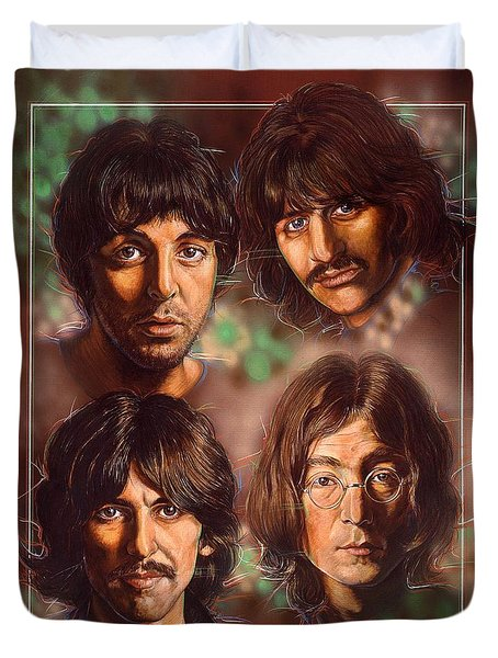 The Beatles Duvet Cover by Tim  Scoggins