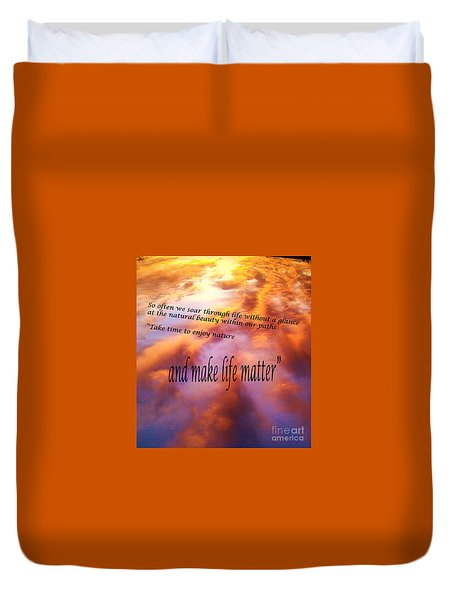 The Beauty In Nature Duvet Cover