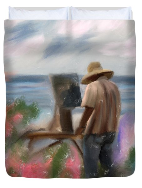 The Beauty Of A Painter Duvet Cover by Angela A Stanton