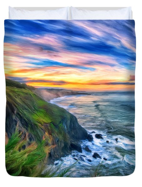 The Beauty Of Big Sur Duvet Cover by Michael Pickett