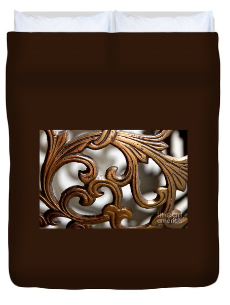 The Beauty Of Brass Scrolls 1 Duvet Cover