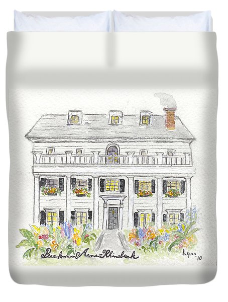 The Beekman Arms In Rhinebeck Duvet Cover by AFineLyne