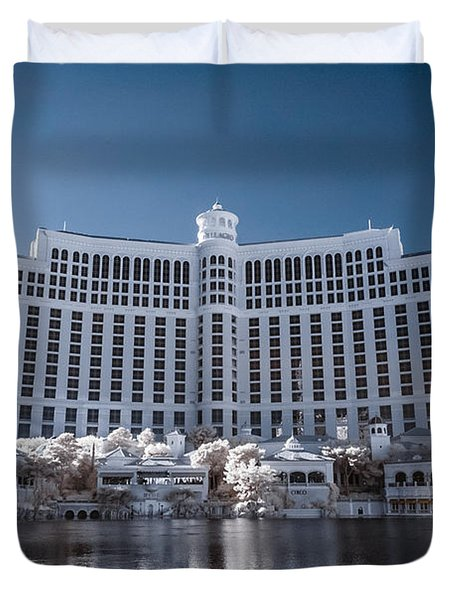 The Bellagio Hotel And Casino In Infrared Duvet Cover