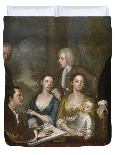 The Bermuda Group, Dean Berkeley And His Entourage, 1728 Duvet Cover