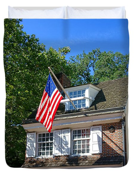 The Betsy Ross House Duvet Cover
