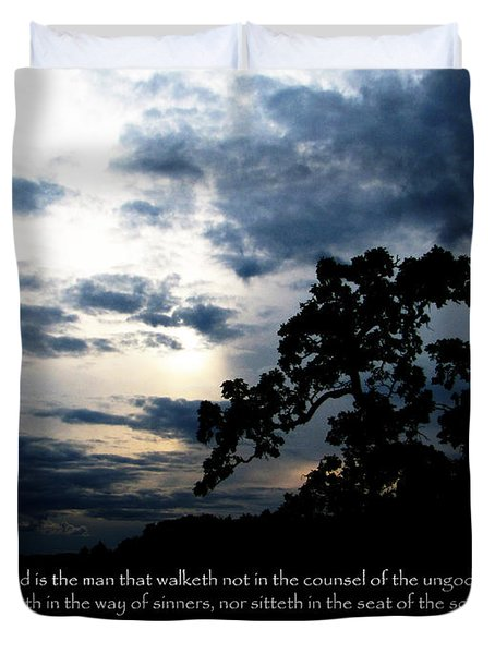 The Bible Psalm 1 Duvet Cover