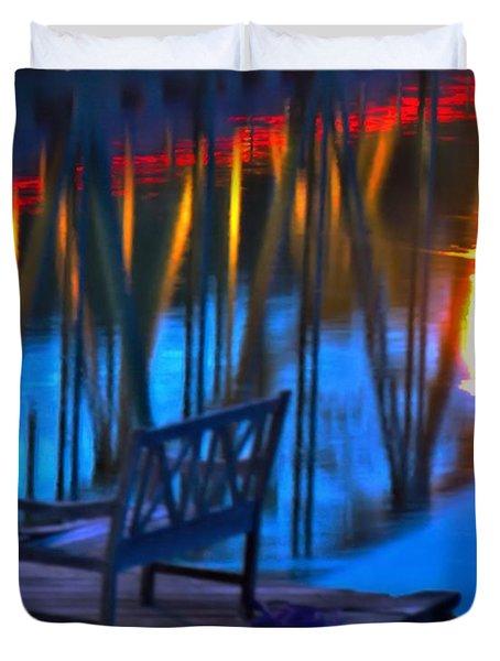 The Bidge At Sunset Duvet Cover