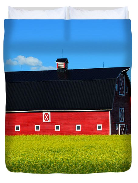 The Big Red Barn Duvet Cover by Bob Christopher