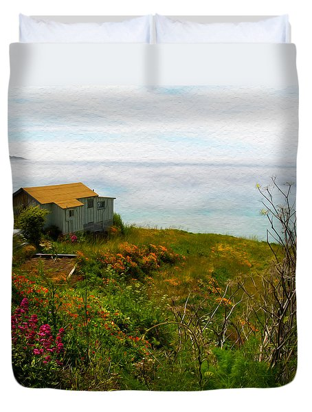 The Big Sur Coast Lucia Ca Duvet Cover