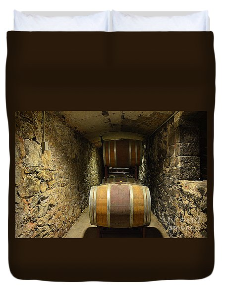 The Biltmore Estate Wine Barrels Duvet Cover