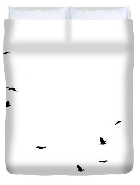 The Birds Duvet Cover by Jessica Brown