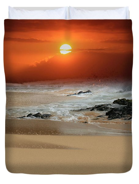 The Birth Of The Island Duvet Cover