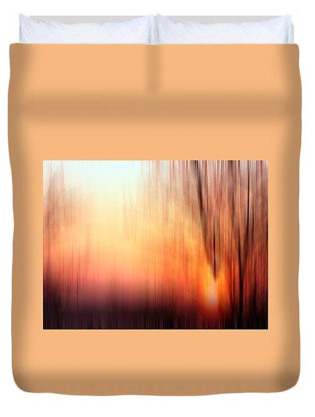 The Birth Of The Sun Duvet Cover by Cedric Hampton