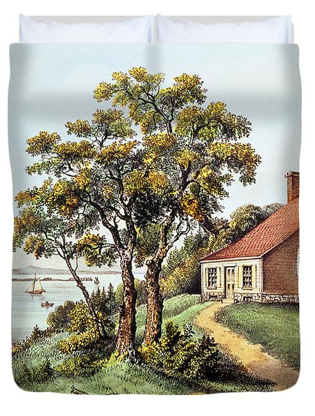 The Birthplace Of Washington At Bridges Creek Duvet Cover