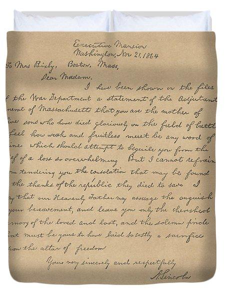 The Bixby Letter Duvet Cover